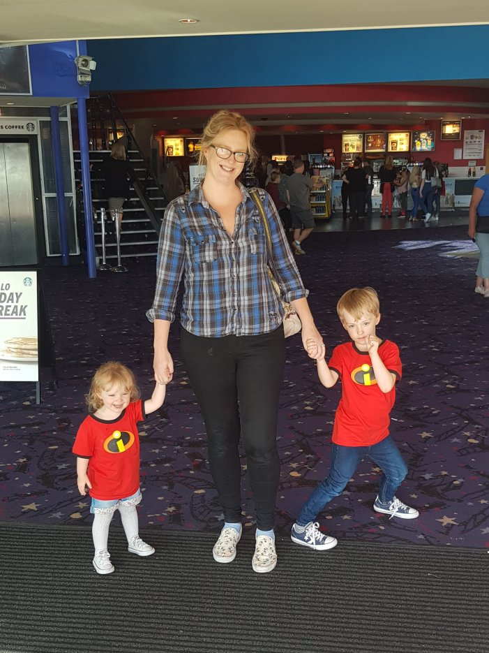 The kids loved their Incredibles T-Shirts