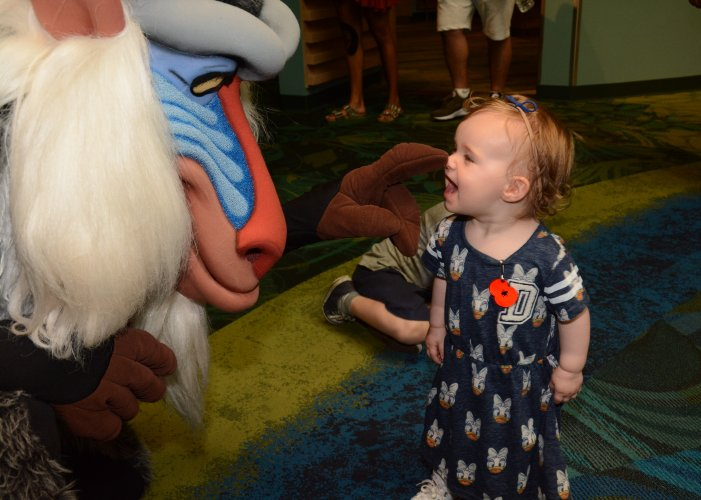 Rafiki is funny, and makes Martha giggle