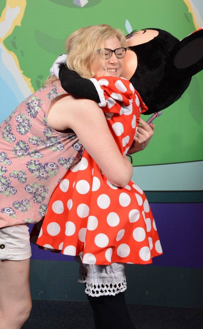 Minnie cuddles are not just for the kids!