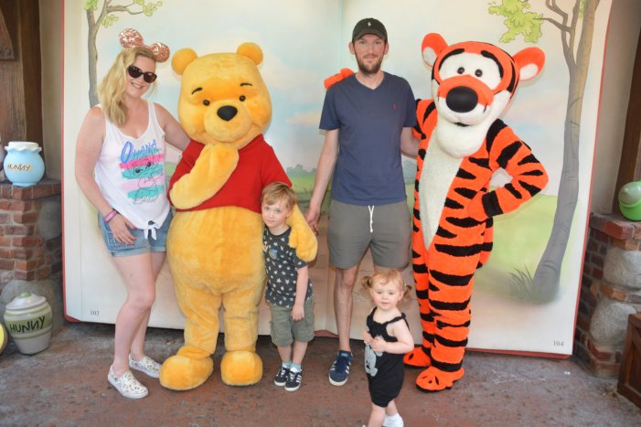 Cuddles with Pooh and Tigger