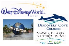 Disney, Universal, Discovery Cove & SeaWorld Parks